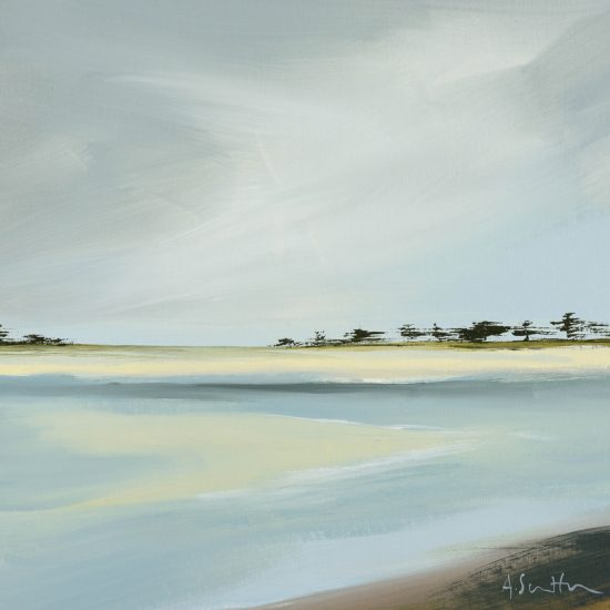 Sandbank Oil on Board 19 x 19 inches